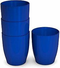 Ornamin Kinderbecher 120 ml blau, 4er-Set |