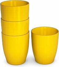 Ornamin Kinderbecher 120 ml gelb, 4er-Set |