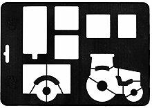 Orthex 3D Backform Traktor mit Anhänger