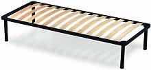 Orthopädische Stahl Lattenrost mit 14 Leisten aus Buche H35 cm - 120X190 | Apple