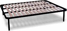 Orthopädische Stahl Lattenrost mit 14 Leisten aus Buche H35 cm - 160X200 | Apple