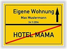 ORTSSCHILD Bild HOTEL MAMA Geschenkidee zur eigenen Wohnung ORTSEINGANGSSCHILD
