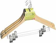 Oryx Kleiderbügel mit Klammern, 450mm, 3 Stück
