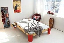 OSAKA Bambusbett ohne Rückenlehne 120x200cm,