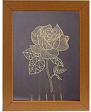 OSALADI 3D Nachtlicht Bilderrahmen Nachtlicht Rose