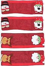 OSALADI 4Pcs Weihnachten Kühlschrank Tür Griff