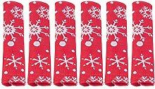 OSALADI 6Pcs Weihnachten Schneeflocke Kühlschrank