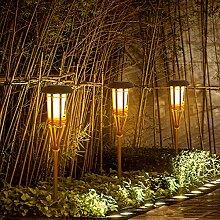 OSALADI Solar Weg Lichter im Freien Bambus Fackel