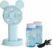 Osdfrlk Kinderspielzeug 201ML Protable Fan Bubble