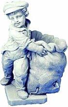 Oskar Statue Gartenfigur aus Betonwerkstein Steinfiguren Garten-Statue Dekofigur Gartenskulptur