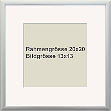 OSLO MasterLine Bilderrahmen 20x20 Silber matt