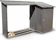 osoltus Brennholzregal mit Gerätehaus