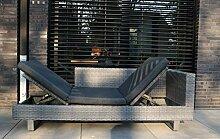 osoltus Lounge Gartenliege Geflecht Lounge Liege