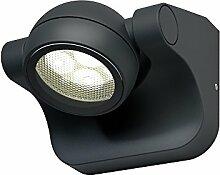 Osram Endura Style Hemisphere LED Außenleuchte, Aluminiumkörper, 6 Watt, warmweiß, 3000K, dunkelgrau