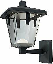 Osram Endura Style Lantern Classic Up LED Wand-Außenleuchte, Aluminiumkörper, 10 Watt, warmweiß, 3000K, schwarz