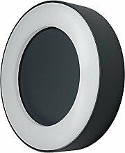 Osram Endura Style Ring LED Wand- Außenleuchte, Aluminiumkörper, 13 Watt, warmweiß, 3000K, dunkelgrau