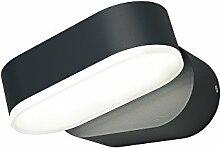 Osram LED Außenleuchte, Endura Style Mini Spot I, Aluminiumkörper, dunkelgrau, 340° verstellbar, 8 Watt, Warmweiß - 3000K