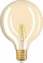 Osram LED Vintage Edition 1906, LED Lampe in Ballform mit E27- Sockel, Dimmbar, Ersetzt 54 Watt, Klar, Warmweiß, 1er- Pack 4052899972698