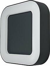 Osram LED Wand- Außenleuchte, Endura Style Square, Aluminiumkörper, Dunkelgrau, 13 Watt, Warmweiß- 3000K