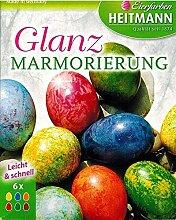 Oster-Eierfarbe 6 Stück Glanz Marmorierfarben