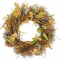 Osterdekoration Kranz Orange / Grün Blumenmotiv