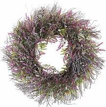 Osterdekoration Kranz Violett / Grün Blumenmotiv