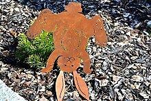 Osterdekoration Osterhasen-Deko Rost Edelrost
