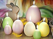 OSTEREIER MATT Osterkerze, Deko Kerze, Kerze, Handgemachte Kerze, Ostern