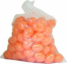 Ostereier Plastik / Kunststoff, Eier, Deko, Osterdekoration, zum Bemalen und Dekorieren ca. 60mm 100 Stück orange