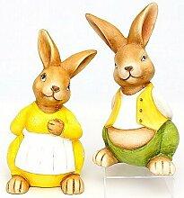 Osterhase Osterhasenset 30 cm hoch zwei Osterhasen Osterdeko schöne Dekofiguren zu Ostern
