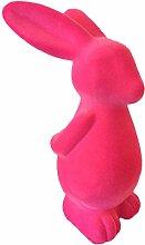 Osterhase XXL pink 23 cm hoch • bepflockt, weiche Oberfläche Osterdekoration • Ostern • Geschenkidee