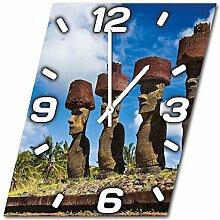 Osterinsel, Design Wanduhr aus Alu Dibond zum Aufhängen, 48 cm Durchmesser, schmale Zeiger, schöne und moderne Wand Dekoration, mit qualitativem Quartz Uhrwerk