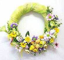 Osterkranz Eier Blumen Bunt schöne Osterdekoration Osterei NEU! (Muster 2)