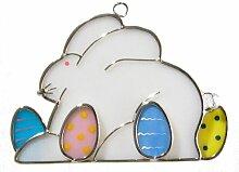 Ostern Bunny gebeizt Glas Suncatcher