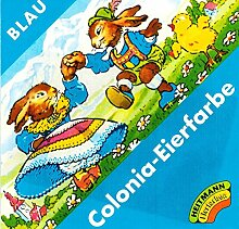 Ostern Colonia Eierfarbe BLAU (für 5-10 Eier)