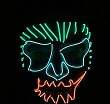 Ostern Dekoration Maske Party Party Dekoration Leuchtende Linie Kaltlicht LED Kunststoff Maske