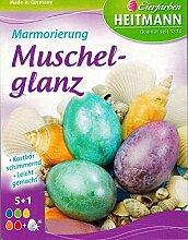 Ostern Eierfarbe Marmorierung Muschelglanz (6
