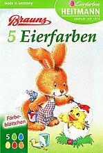 Ostern Eierfarben (5 Färbeblättchen)