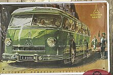 Ostern Einrichtung Bus Tin Sign Art Wall Dekor House Cafe Bar vintage Metall Malerei