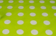 Ostern Essential. grün & weiß Dots Design, abwischbare Tischdecke, Wachstuch, Vinyl, PVC, 140x 200cm. Tolles Produkt.