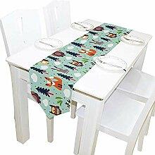 Ostern-Gruß-Häschen-Tischläufer,