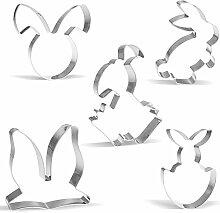 Ostern Hase Ausstechform - 5 Stück - Hase,