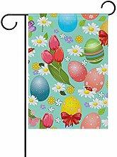 Ostern mit Eiern doppelseitige Polyester Garden