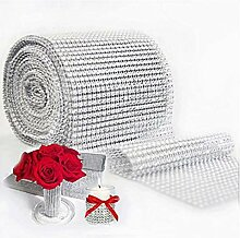Osy 900cm Netzsaum Diamant Kristall Bänder Party Hochzeit Dekoration