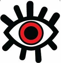 OTA STICKER Stoßstangen-Vinyl-Augenkugel, rotes