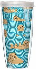 Otter Becher mit transparentem Deckel, 624 ml