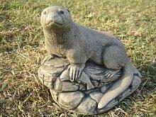 Otter Garten Stein (Otter with Fish)    Weitere Gartendekorationen in meinem shop.>>Klicken Sie auf die blauen Neilstonecraft link