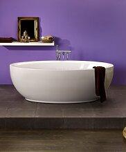 OTTOFOND LUNA freistehende Badewanne oval 1800x940x450mm weiss incl.Ablaufgarnitur