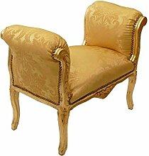 Ottomane Barock Hocker Schemel gold/gold Sitzbank