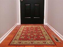 """ottomanson ottohome Perser-Teppich Oriental Bereich/Läufer Teppich mit non-skidrubber Unterstützung, Red Persian, 3'3"""" X 5'0"""